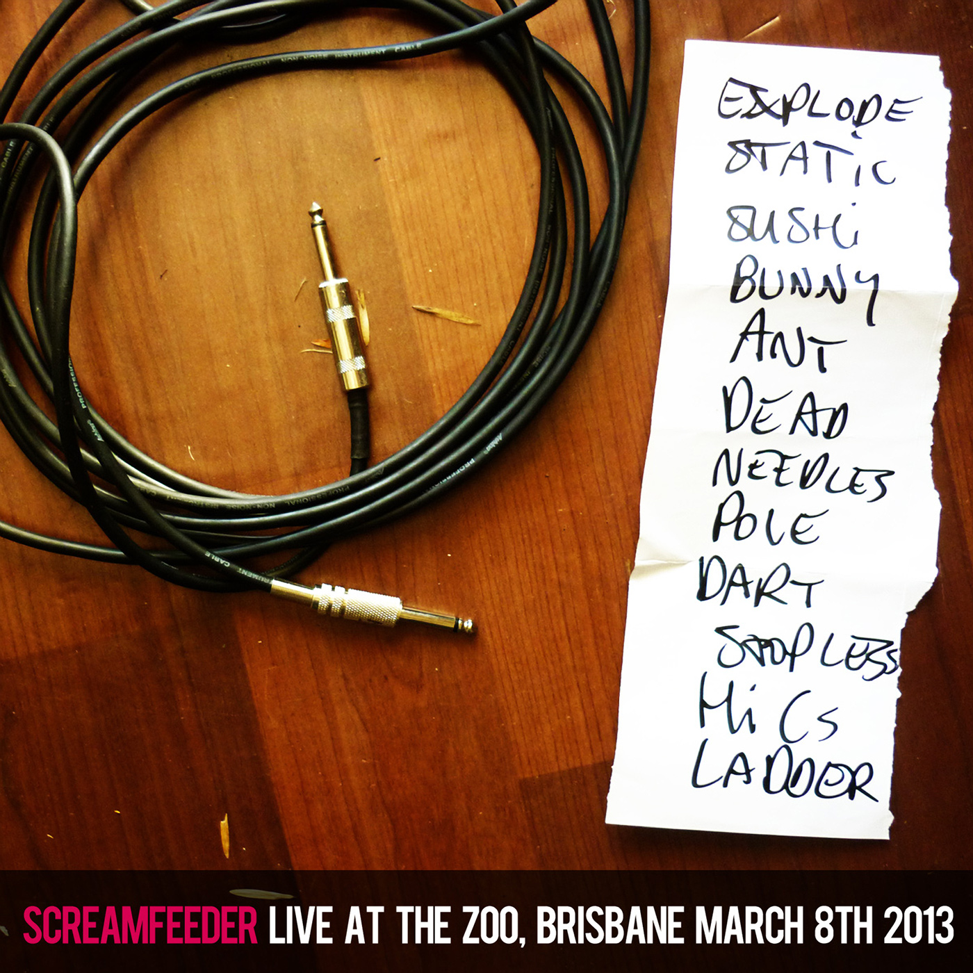 Live at The Zoo, Brisbane, March 2013